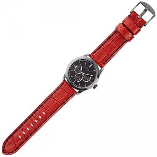 Ottaviani Uhr Herren mit Stahl Gehaeuse und Armband Leder 16061rd
