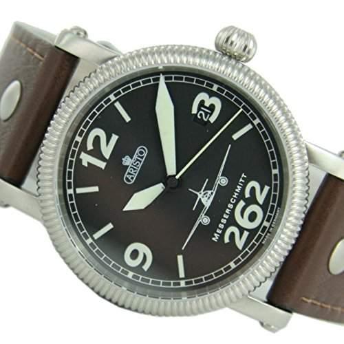 Aristo Herren Messerschmitt Uhr Fliegeruhr kleine ME262 Automatik 7H68