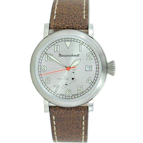 Aristo Herren Messerschmitt Uhr Fliegeruhr ME163 SIL Leder