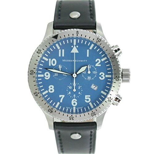 Aristo Herren Messerschmitt Uhr Chronograph Fliegeruhr ME 5030BLAU