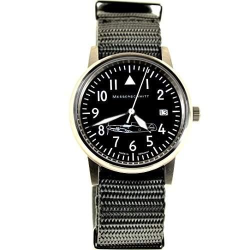 Aristo Herren Messerschmitt Uhr Fliegeruhr ME 109  109-S