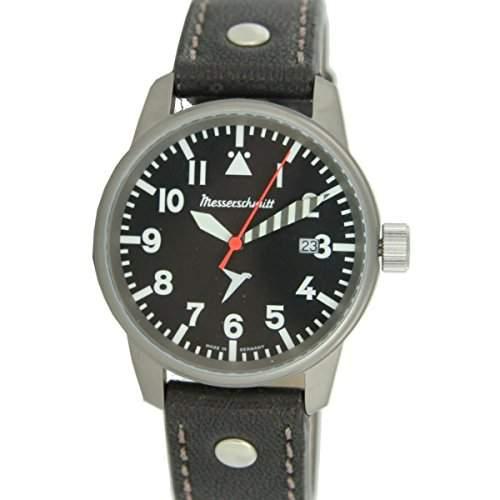 Messerschmitt Fliegeruhr Pilot Watch Herren Uhr ME 68Ti ME68