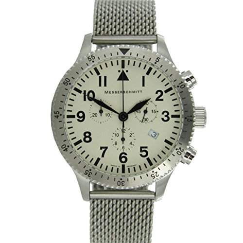 Aristo Herren Messerschmitt Uhr Chronograph Fliegeruhr ME-5030MBEIGE