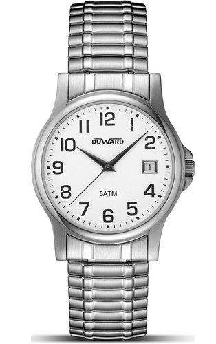 Duward d94182 12 Ritter Uhr Lederarmband Quarzwerk ausziehbar von Stahl
