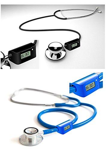 Stethoskop mit Uhr fuer Arzt Mediziner in schwarz