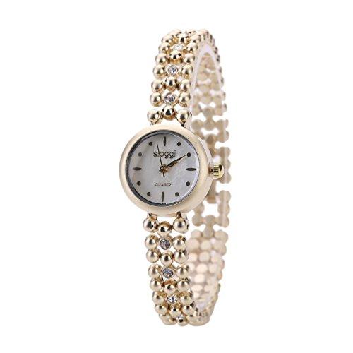 OverDose Damen Arbeiten Sie Retro Diamant Uhr beilaeufigen Quarz um Uhrenarmbanduhr D