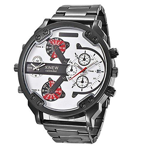 OverDose Herren Luxus Uhr Edelstahl Sport analoge uhren Schwarz