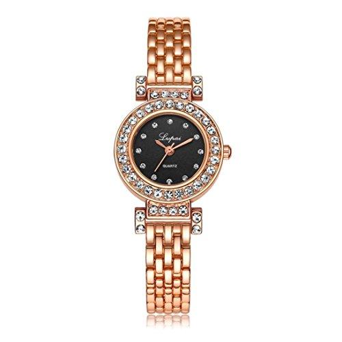 OverDose Damen Frauen Quarz Armband uhr Taktgeber Kleid Geschenk Uhren D