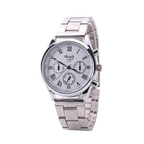 OverDose Herren General Business Quarz uhr Edelstahl Armbanduhr