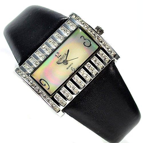 Schoene Armbanduhr mit viel Strass Damen Fashion Mode Uhr