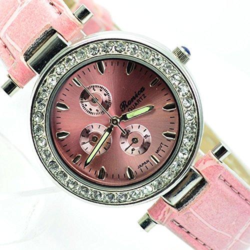 Wunderschoene Elegante in Silber Rosa mit Strasssteine al 511