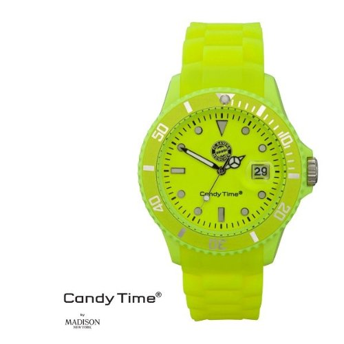 MADISON NEW YORK Unisex Uhr Candy Time for FC Bayern Muenchen Neon Gelb Onesize