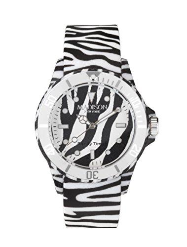 MADISON NEW YORK Unisex Uhr Candy Time Animal Print Zebra onesize