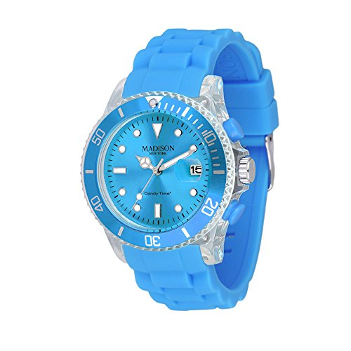 MADISON NEW YORK Unisex Uhr Candy Time Flash Hellblau Onesize