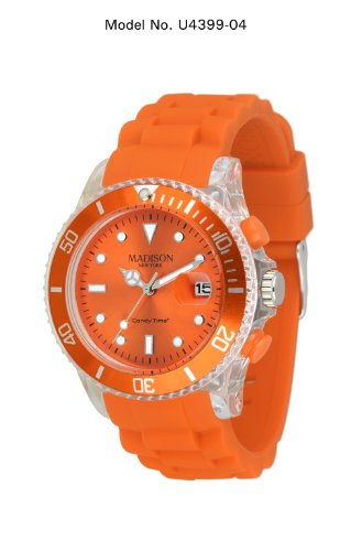 MADISON NEW YORK Unisex Uhr Candy Time Flash Orange Onesize