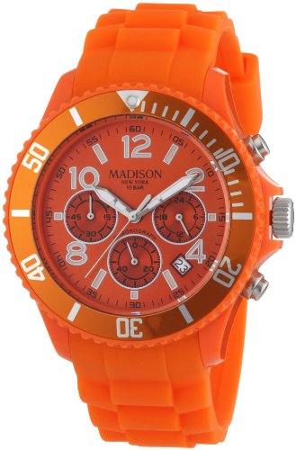 Madison New York Unisex Armbanduhr Candy Chrono Chronograph Silikon U4362 04