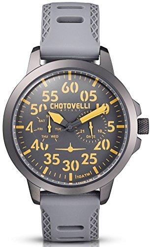 Chotovelli 3300 15 Aviator Analog Armee Silikon Band