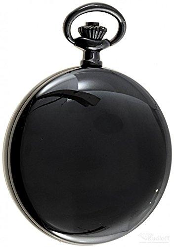 Savonnette Sprungdeckel Taschenuhr schwarz Quarz ITRR 31952bl