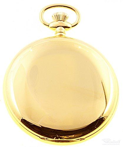 Savonnette Taschenuhr Day Date Quarz plaque Gold ITRR 31979pl