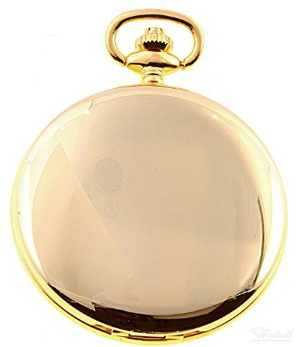 Savonnette Taschenuhr Sprungdeckel vergoldet Quarz ITRR 31902plqus