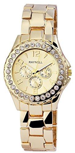 Damen mit Quarzwerk RP4990400001 Metallgehaeuse mit Metall Armband und Faltschliesse Ziffernblattfarbe Goldfarbig Bandgesamtlaenge 20 cm Armbandbreite 20 mm