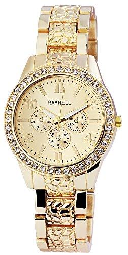 Damen mit Quarzwerk RP4990400005 Metallgehaeuse mit Metall Armband in Goldfarbig und Faltschliesse Ziffernblattfarbe Goldfarbig Bandgesamtlaenge 20 cm Armbandbreite 18 mm