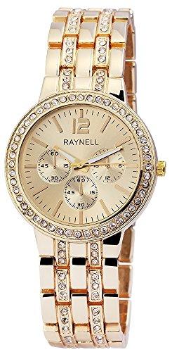 Damen mit Quarzwerk RP4990400007 Metallgehaeuse mit Metall Armband in Goldfarbig und Faltschliesse Ziffernblattfarbe Goldfarbig Bandgesamtlaenge 20 cm Armbandbreite 20 mm