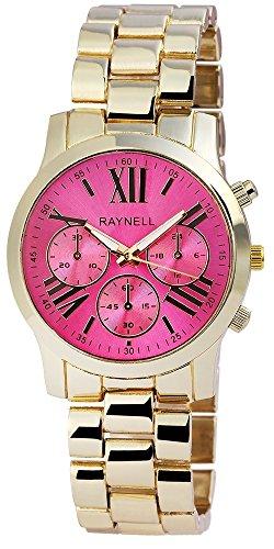 Damen mit Quarzwerk RP4990550002 Metallgehaeuse mit Metall Armband und Faltschliesse Ziffernblattfarbe Pink Bandgesamtlaenge 19 cm Armbandbreite 19 mm