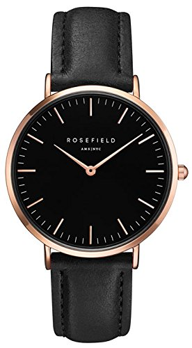 ROSEFIELD The Bowery Black Black Rosegold Armbanduhr BBBR B11