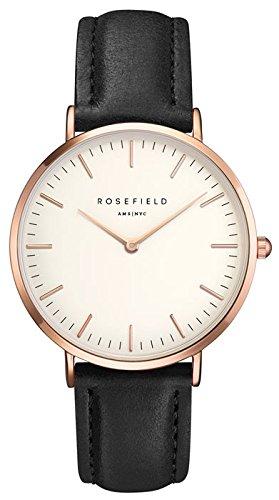 ROSEFIELD The Bowery White Black Rosegold Armbanduhr BWBLR B1