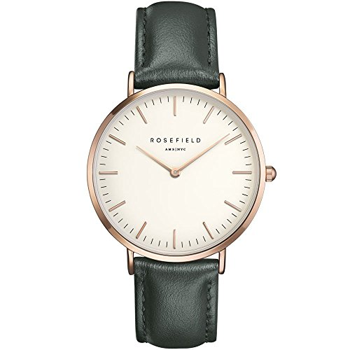 ROSEFIELD The Bowery White Green Rosegold Armbanduhr BWGER B16