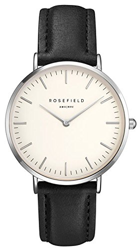 ROSEFIELD The Bowery White Black Silver Armbanduhr BWBLS B2
