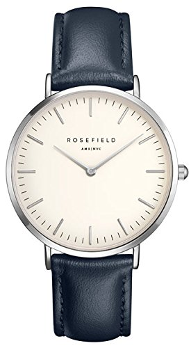 ROSEFIELD The Bowery White Blue Silver Armbanduhr BWBUS B15