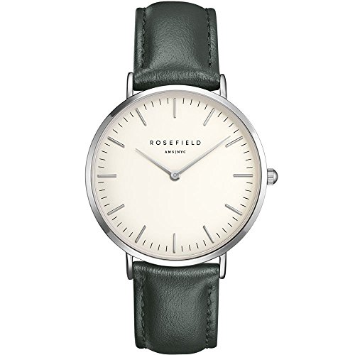 ROSEFIELD The Bowery White Green Silver Armbanduhr BWGES B17