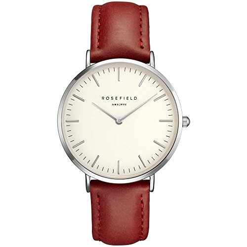 ROSEFIELD The Bowery White Red Silver Armbanduhr BWRS B6