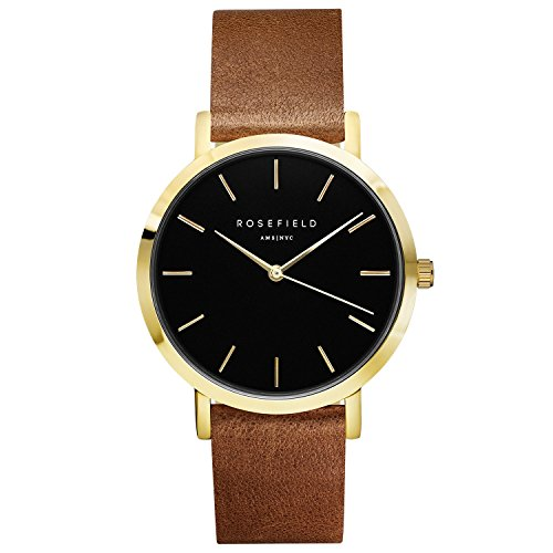ROSEFIELD The Gramercy Black Brown Gold Armbanduhr GBBRG G37