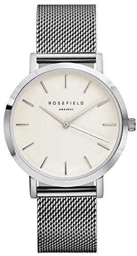ROSEFIELD The Mercer White Silver Armbanduhr MWS M40
