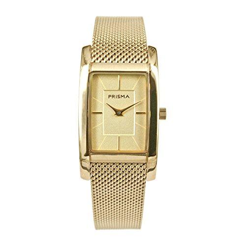 Prisma Icon Edelstahl mit Milanaise Armband und Analog Quarzwerk Gold P1837