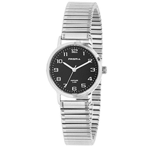Prisma Damen Armbanduhr Analog mit Quarzwerk und Saphirglas 5 ATM P 1758