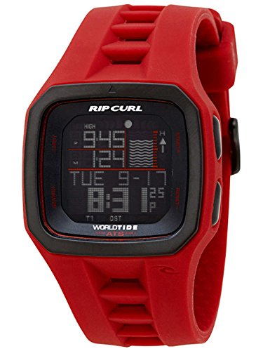 Rip Curl Trestles Pro World Tide and Time Watch RED A1090
