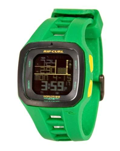 Rip Curl Trestles Pro World Tide and Time Watch Green A1090 Colour - Green