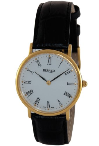 Bernex Herren Armbanduhr Analog Leder GB11130