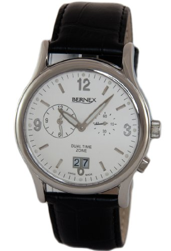 Bernex Herren Armbanduhr Analog Leder GB11406