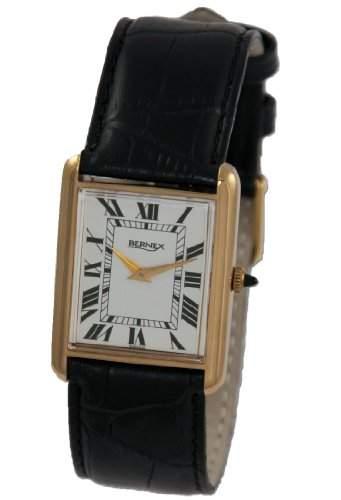 Bernex Herren-Armbanduhr Analog Leder BN12104