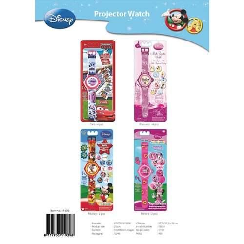 Disney Armbanduhr - mit Projektor 4 Verschiedene Modelle moeglich Disneys Prinzessinen, Minni Mouse, Mickey Mouse, Cars