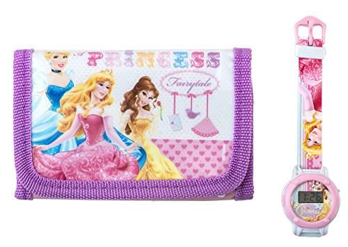Disney Princess Geschenk-Set bestehend aus Geldbeutel und Armbanduhr