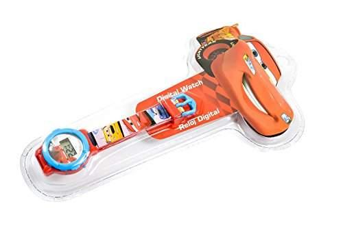 "Disney Kinderuhr Rot Blau Digital ""Cars - Lightning McQueen"" Jungen Maedchen Girls Uhr"