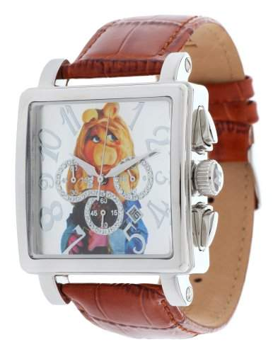 Disney Herren Armbanduhr Miss Piggy braun DI-094491-MP1