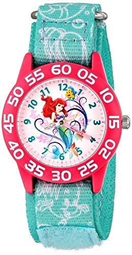 Disney Kids Ariel Little Mermaid Time Teacher Watch with Blue Nylon Band