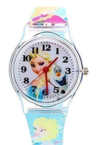 Disney Frozen Armbanduhr fuer Kinder Grosse Analog Display Verstellbar Weiches Gummi Band 22 9 cm L